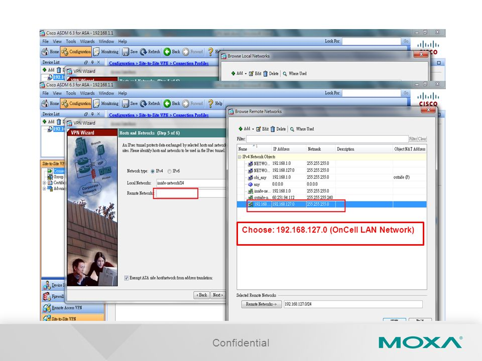Confidential Choose: 192.168.127.0 (OnCell LAN Network)