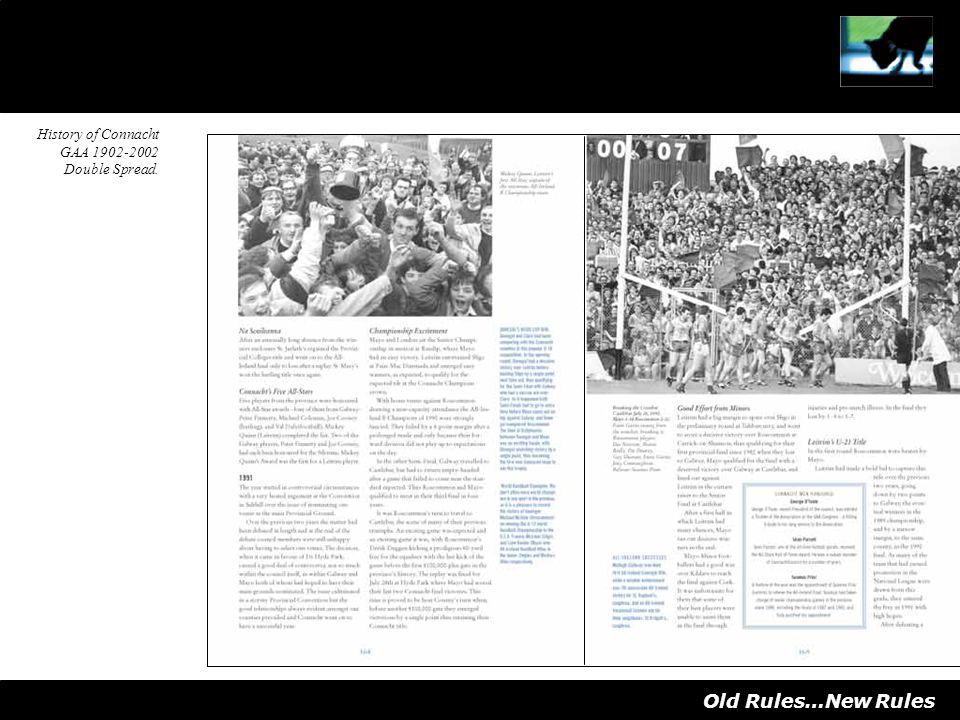 Old Rules…New Rules History of Connacht GAA 1902-2002 Double Spread.