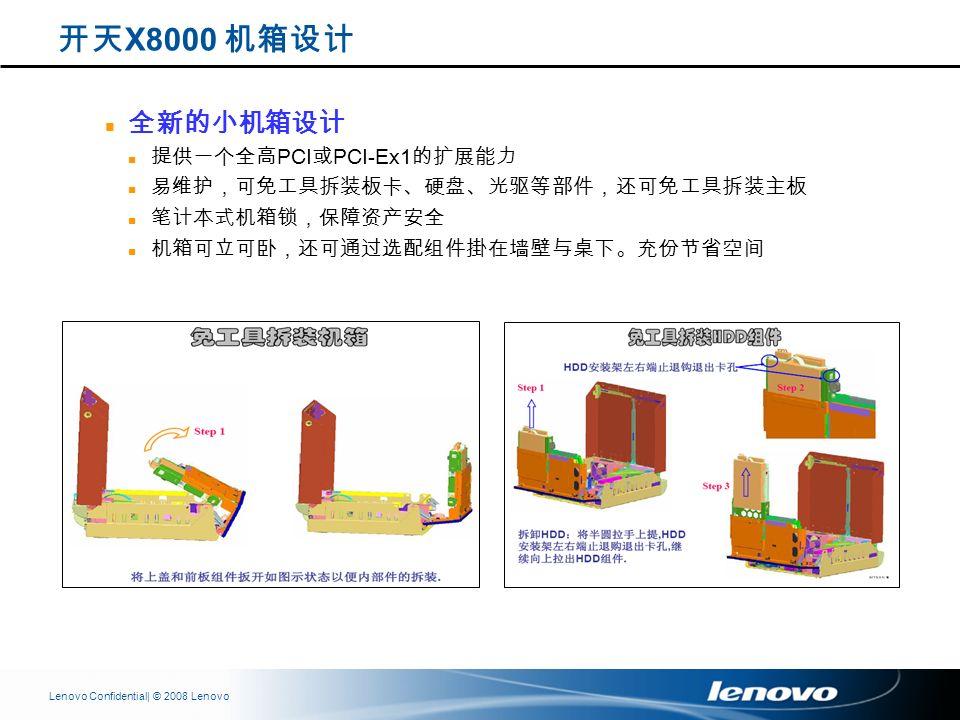 | © 2008 LenovoLenovo Confidential PCI PCI-Ex1 X8000