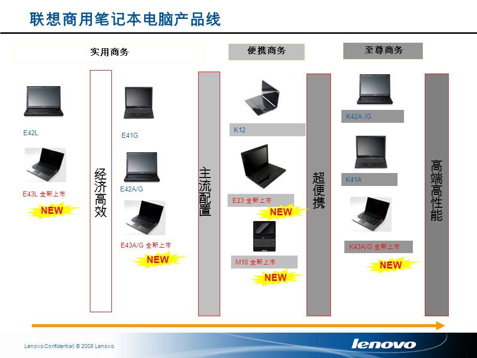 | © 2008 LenovoLenovo Confidential K42A /G E41G K41A E42L E43L E42A/G E43A/G K12 E23 M10 K43A/G NEW