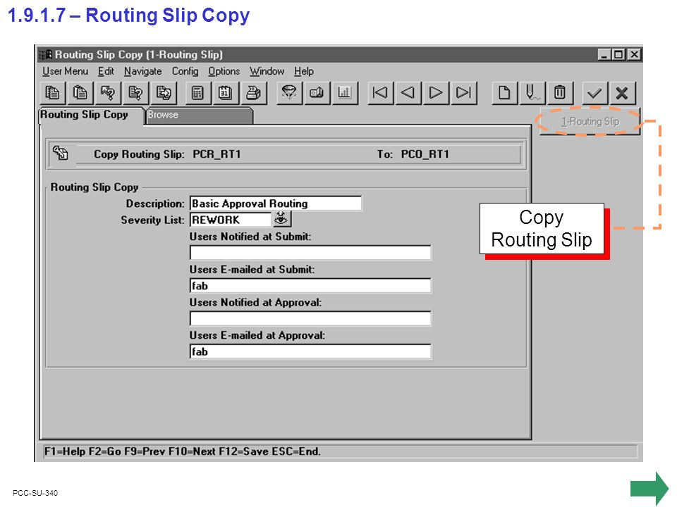 PCC-SU-340 1.9.1.7 – Routing Slip Copy Copy Routing Slip