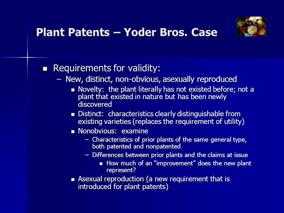 Plant Patents – Yoder Bros.