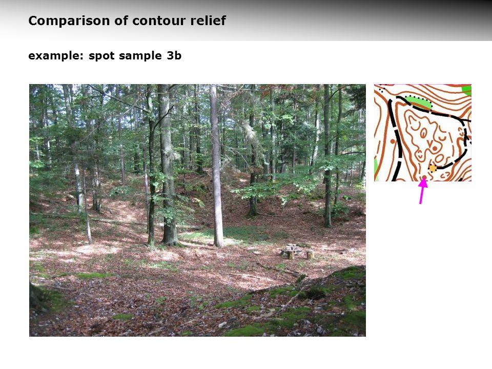 example: spot sample 3b Comparison of contour relief