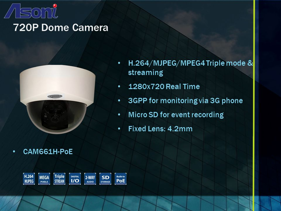 1080P Box Camera CAM663FICR 5-Year Warranty H.264/MJPEG/MPEG4 Triple mode & streaming Up to 30FPS@1920x1080 8 Steps Manual Shutter Micro-SD card for event recording 2-way audio