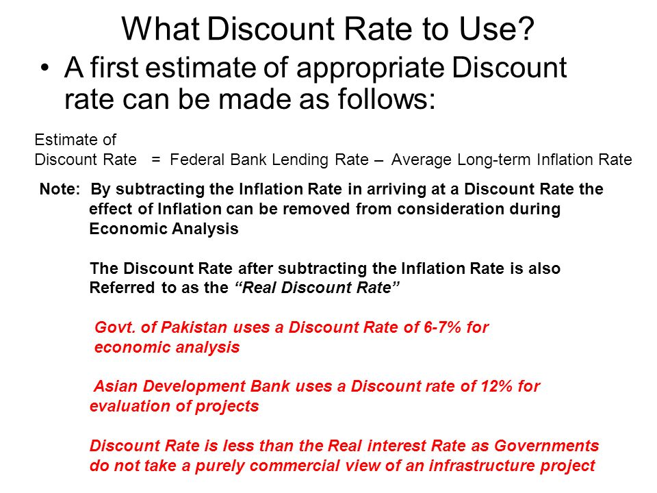 What Discount Rate to Use.