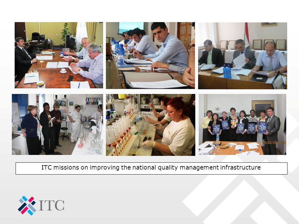 ITC missions on improving the national quality management infrastructure