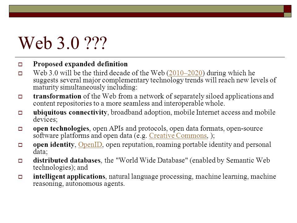 Web 3.0 ??.