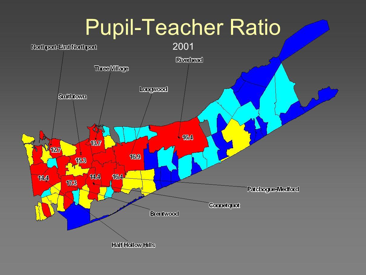 2001 Pupil-Teacher Ratio