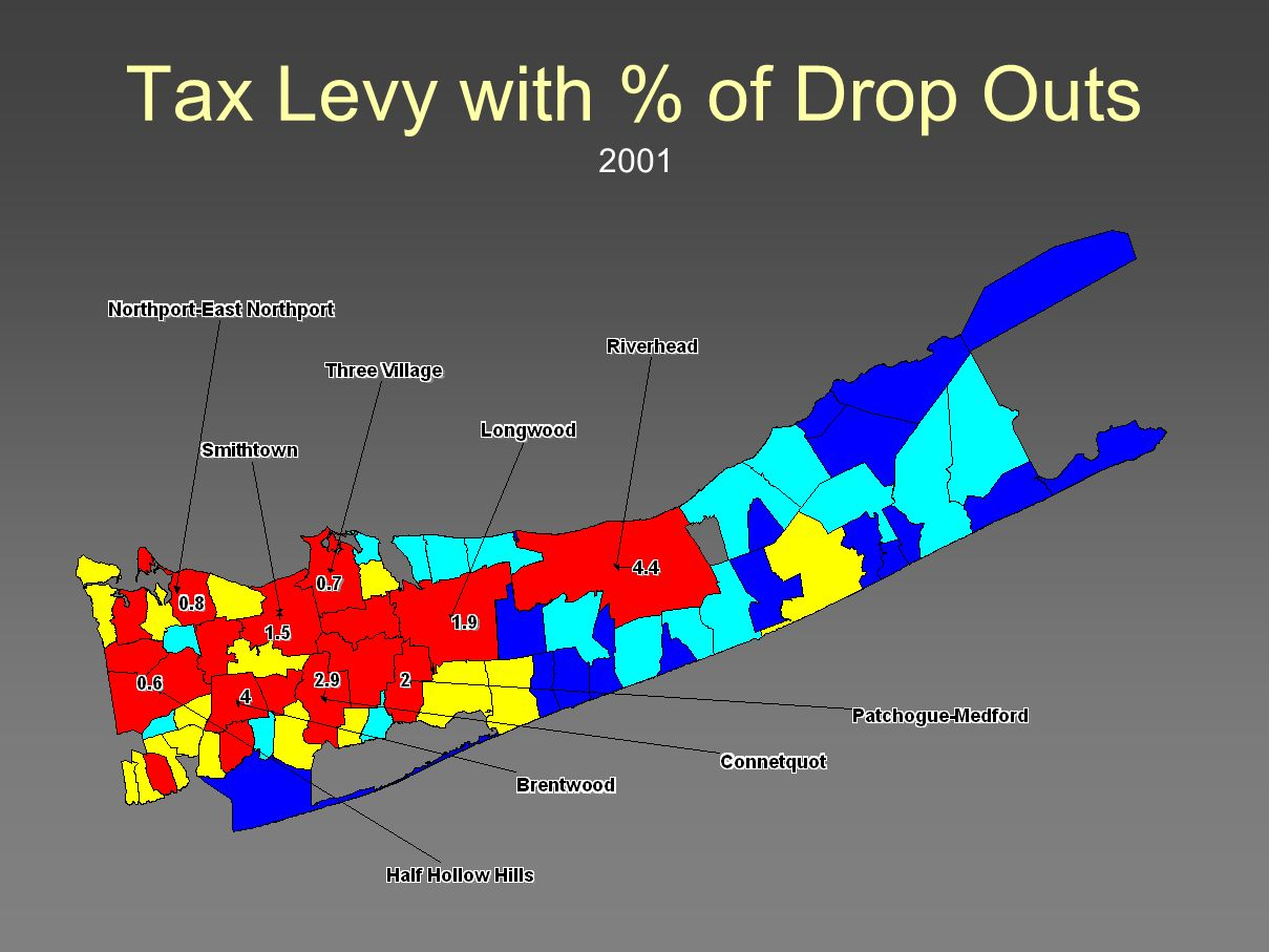 Tax Levy with % of Drop Outs 2001