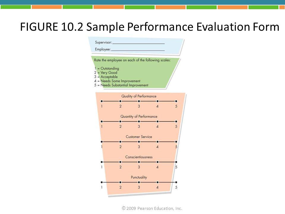 FIGURE 10.2 Sample Performance Evaluation Form © 2009 Pearson Education, Inc.