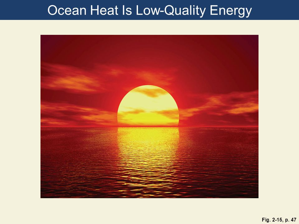 Ocean Heat Is Low-Quality Energy Fig. 2-15, p. 47