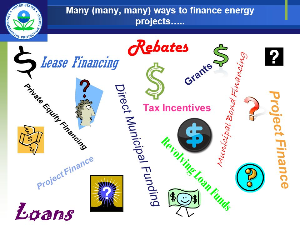 Many (many, many) ways to finance energy projects…..