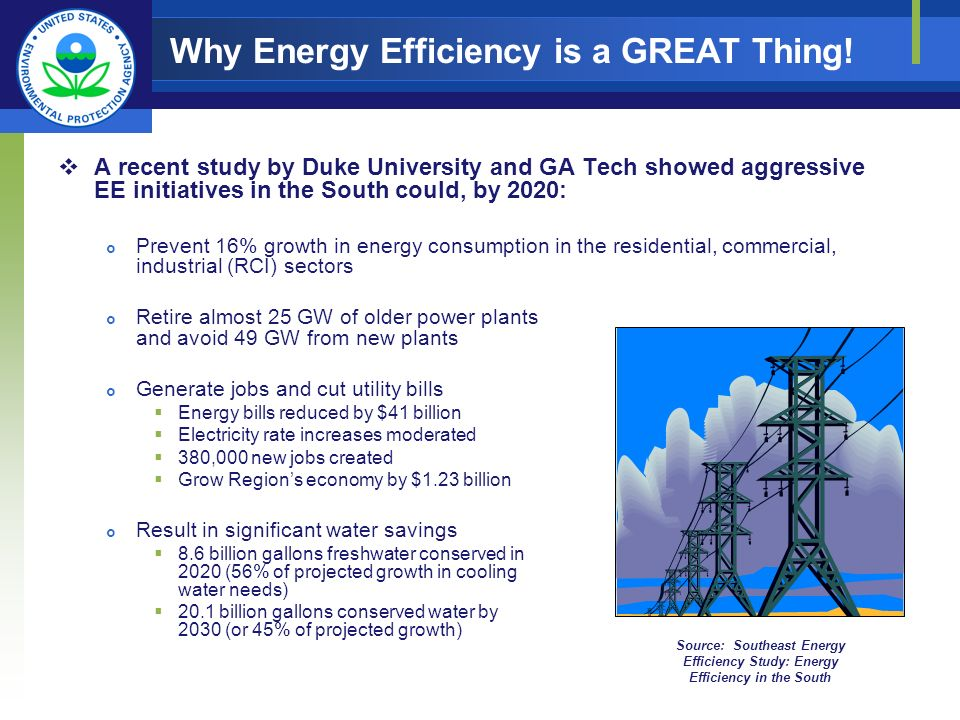 Why Energy Efficiency is a GREAT Thing.