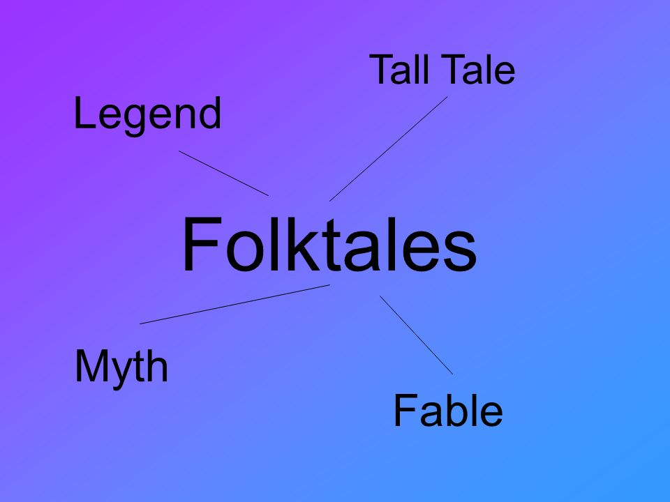 Folktales Tall Tale Legend Myth Fable