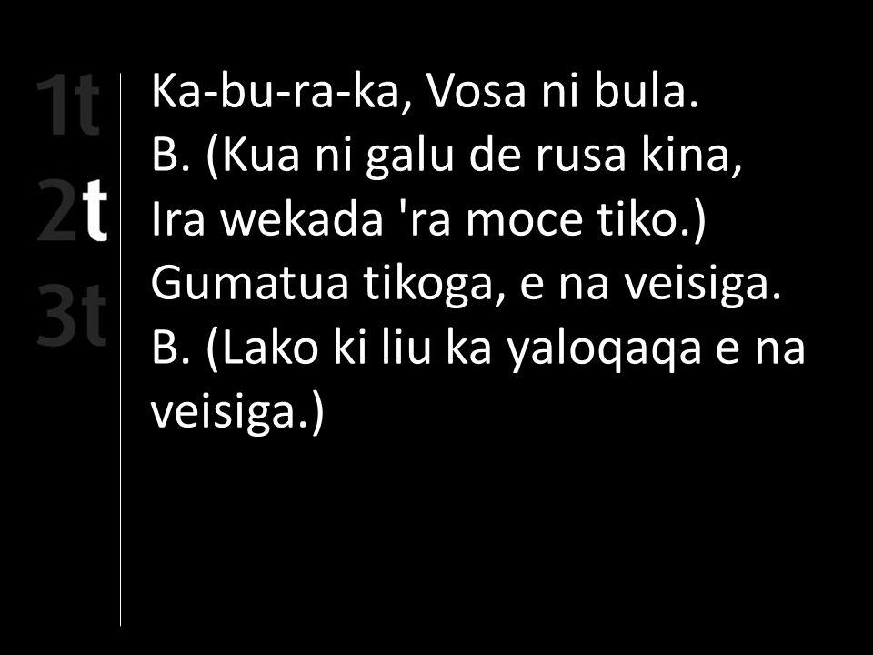 Ka-bu-ra-ka, Vosa ni bula. B.