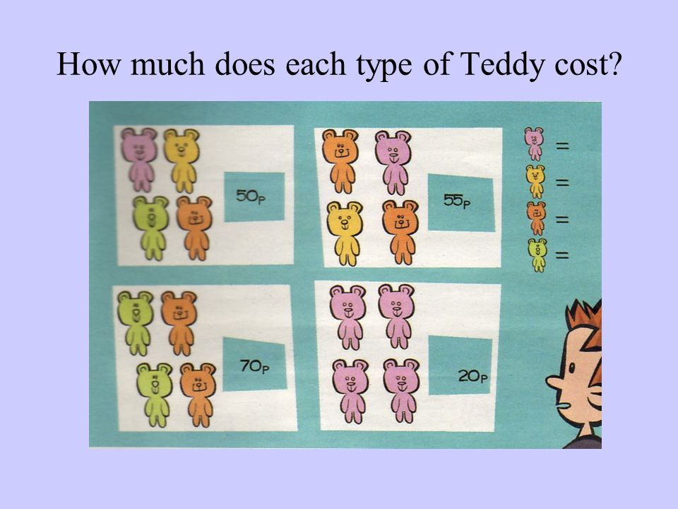 How much does each type of Teddy cost