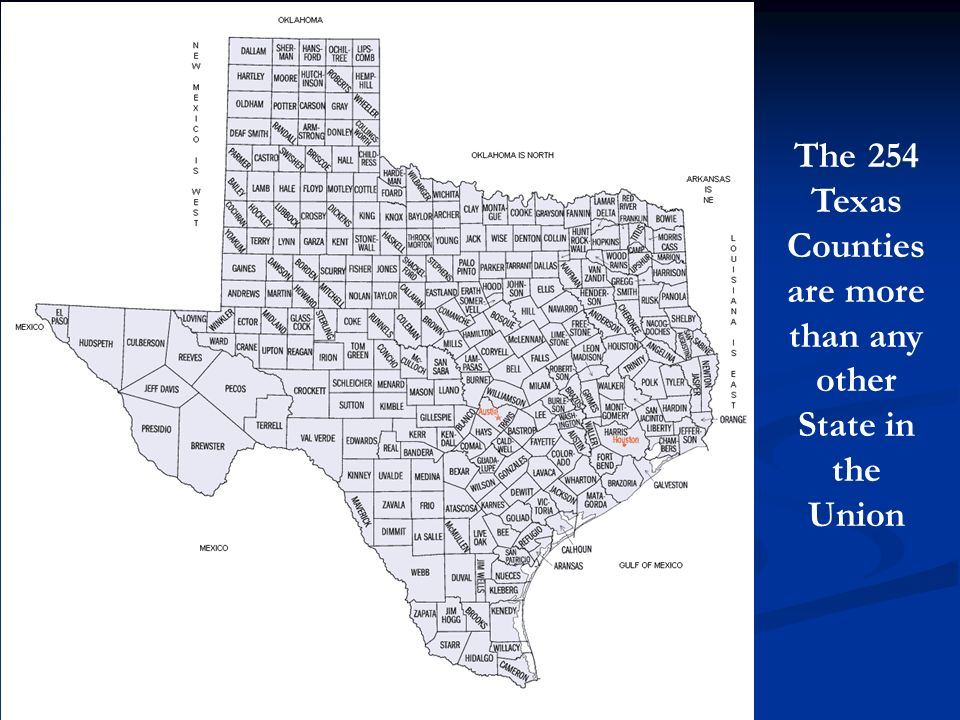 The 254 Texas Counties are more than any other State in the Union