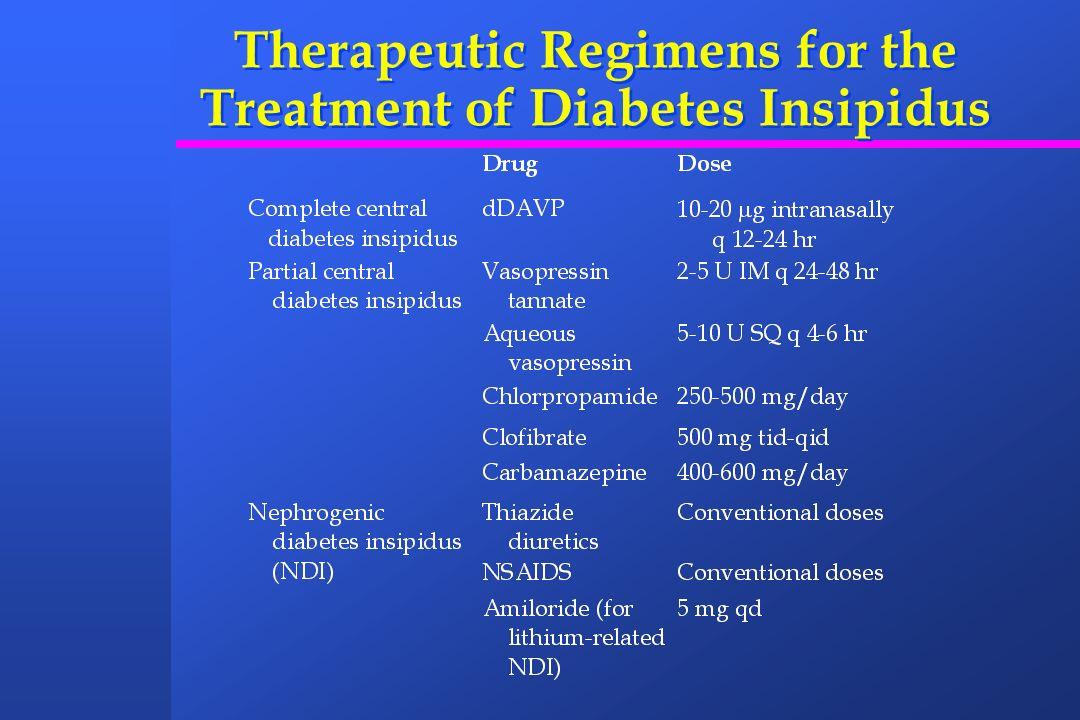 Therapeutic Regimens for the Treatment of Diabetes Insipidus