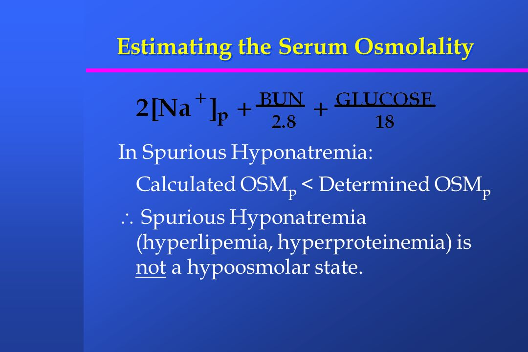 A Prudent Approach to the Treatment of Hyponatremia - 2 Symptomatic Hyponatremia (Chronic or Unknown Duration) 1.Increase serum sodium by 10%, that is, approximately 10 mEq/L and then water restrict.