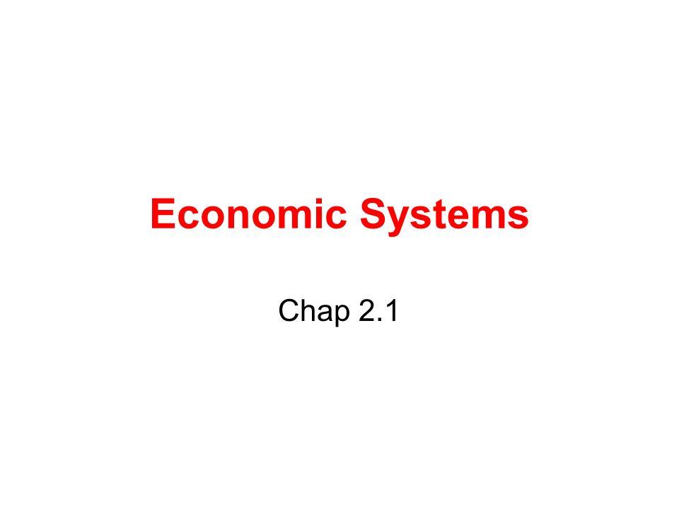 Economic Systems Chap 2.1