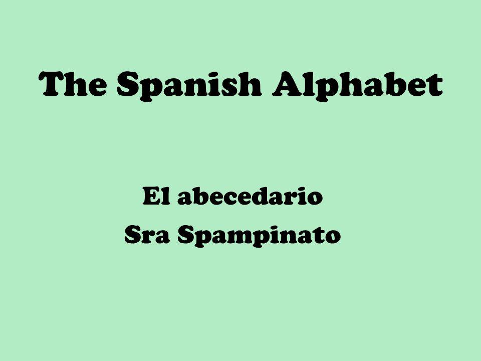 The Spanish Alphabet El abecedario Sra Spampinato