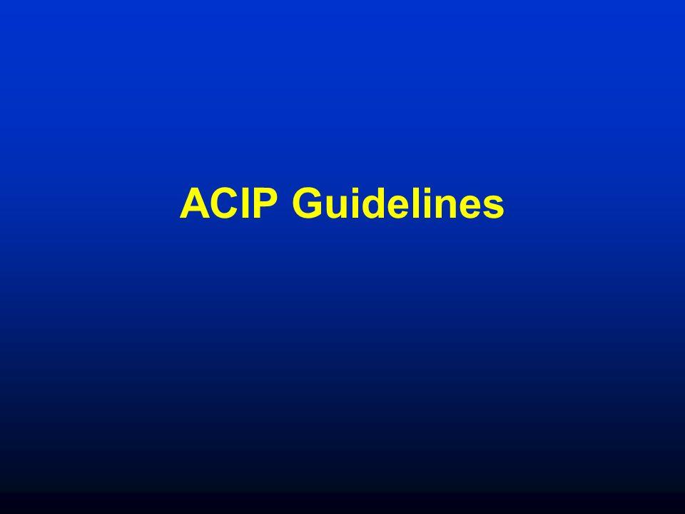 ACIP Guidelines