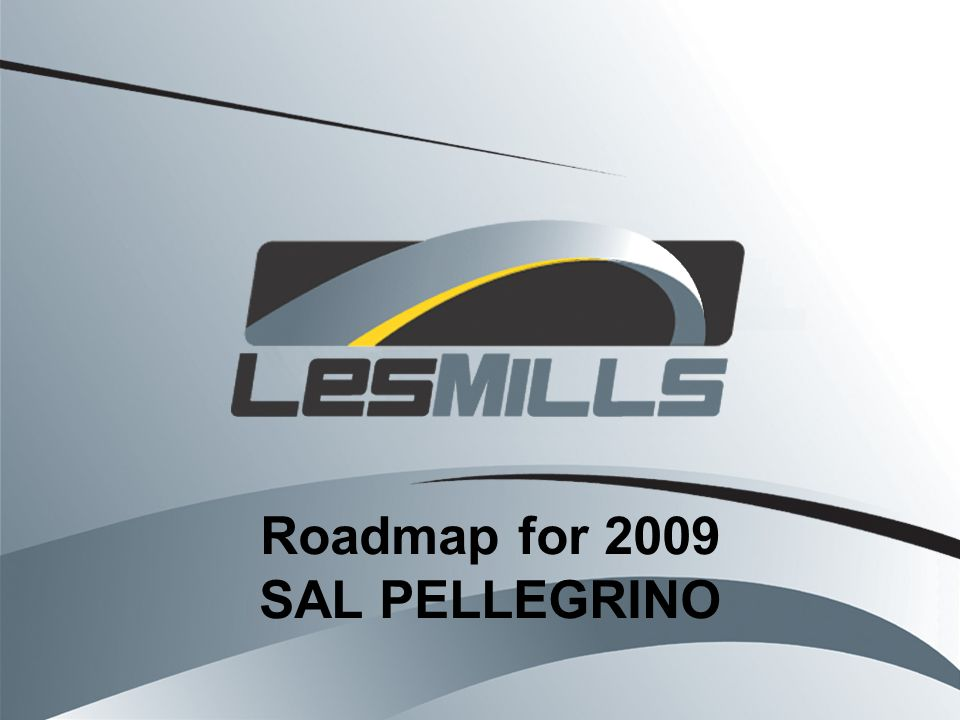 Roadmap for 2009 SAL PELLEGRINO