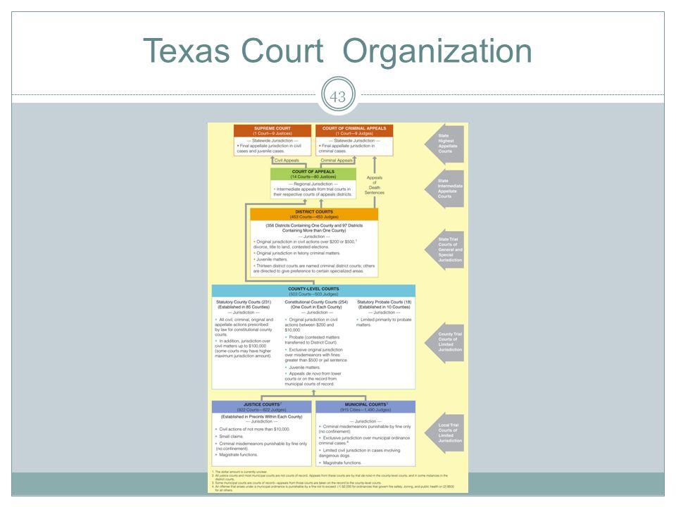 Texas Court Organization 43