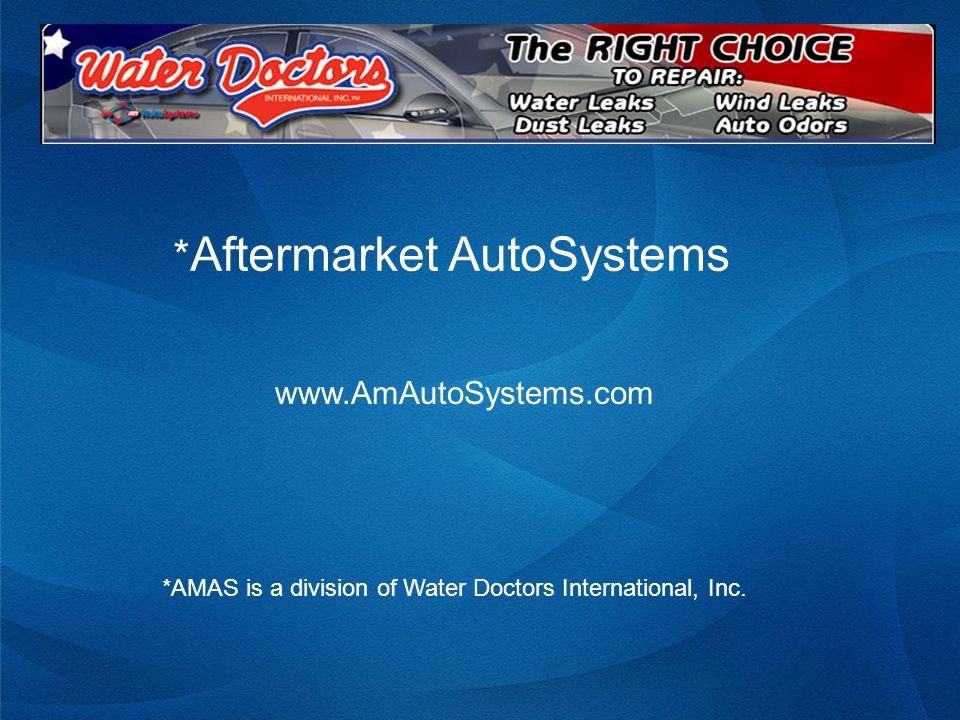 Excerpts from a Typical AMAS Repair Customers Complaint Header