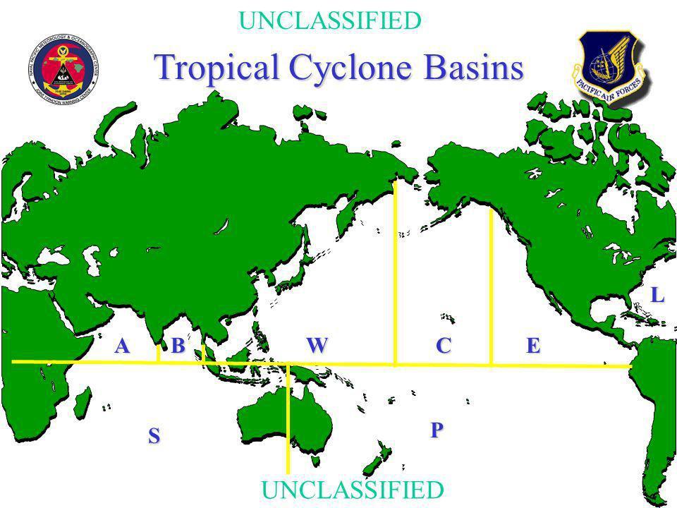 UNCLASSIFIED Tropical Cyclone Basins S WBACE P L