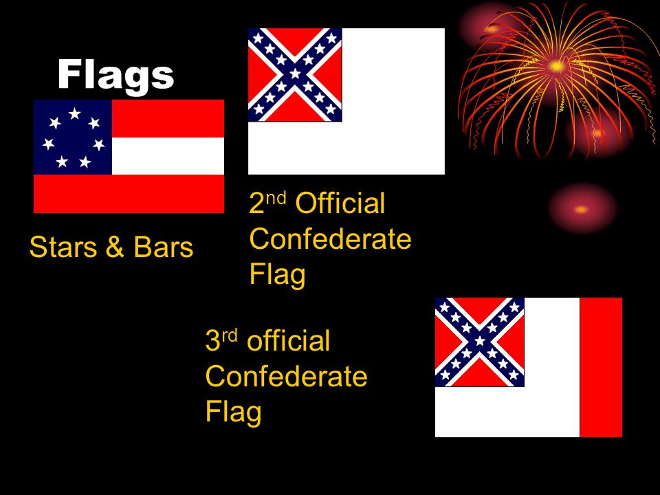 Flags Stars & Bars 2 nd Official Confederate Flag 3 rd official Confederate Flag