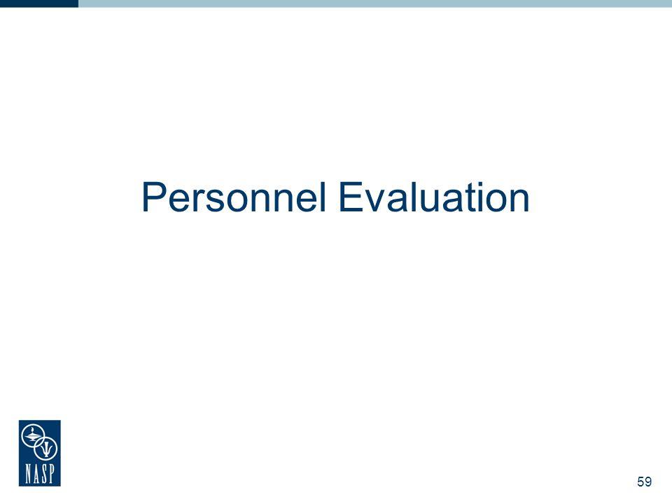 Personnel Evaluation 59