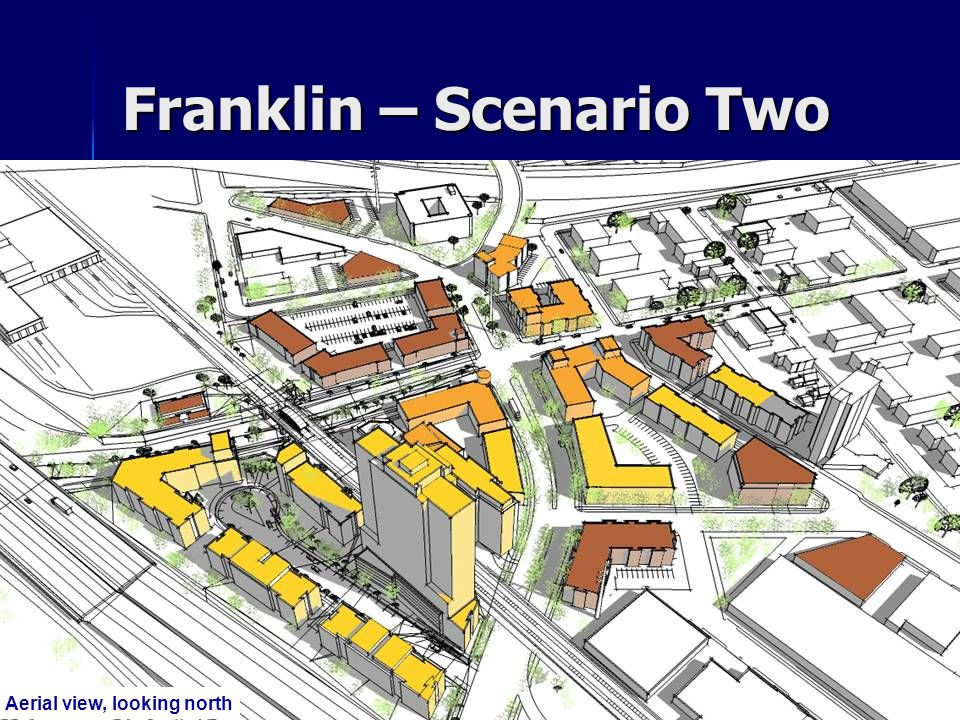 Franklin – Scenario Two Aerial view, looking north