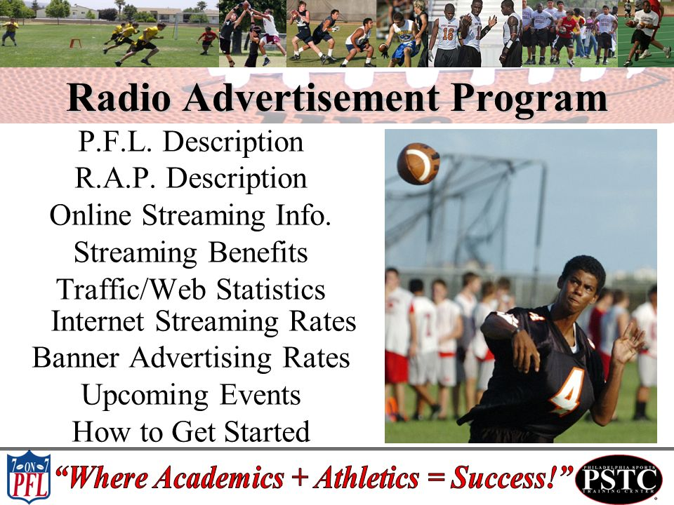 Radio Advertisement Program P.F.L.Description R.A.P.