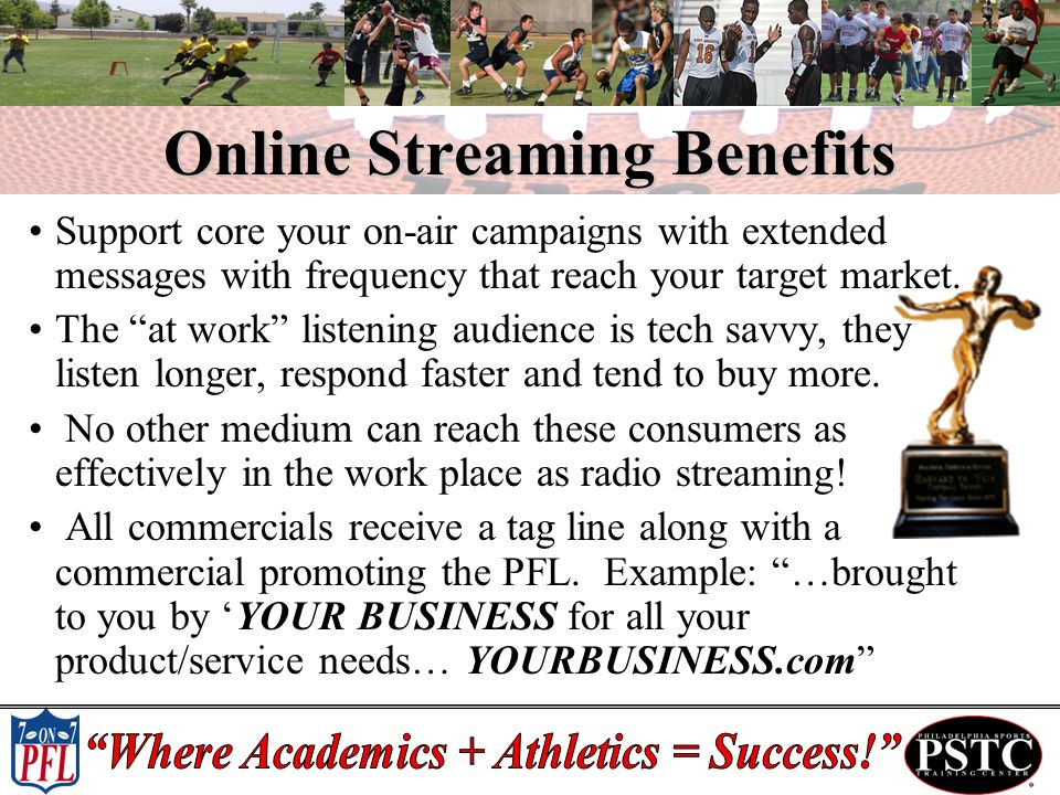 Online Streaming Benefits Support core your on-air campaigns with extended messages with frequency that reach your target market.