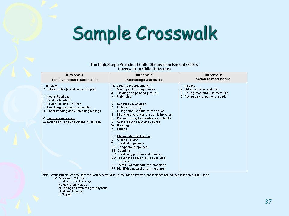 37 Sample Crosswalk