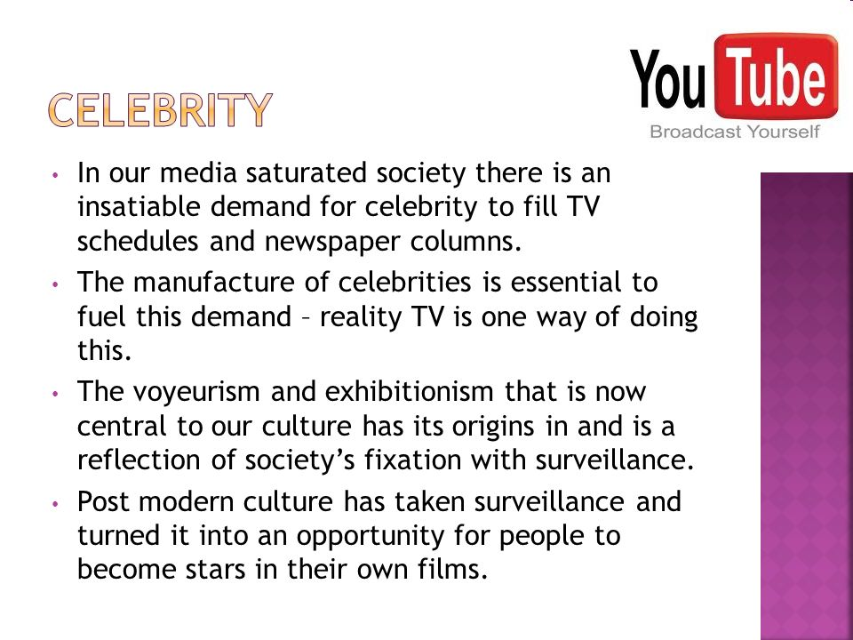 In our media saturated society there is an insatiable demand for celebrity to fill TV schedules and newspaper columns.