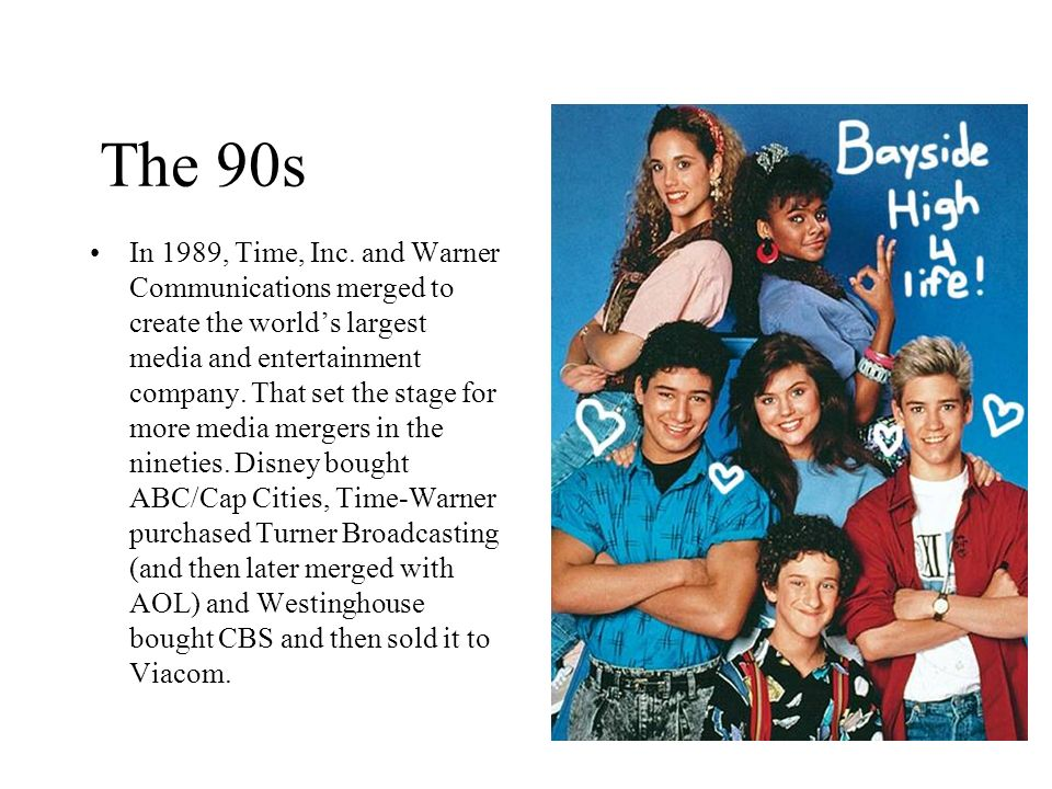 The 90s In 1989, Time, Inc. and Warner Communications merged to create the worlds largest media and entertainment company. That set the stage for more