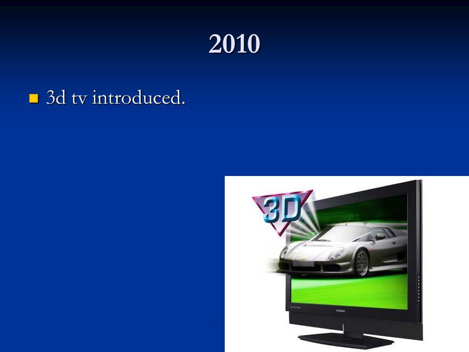 2010 3d tv introduced. 3d tv introduced.