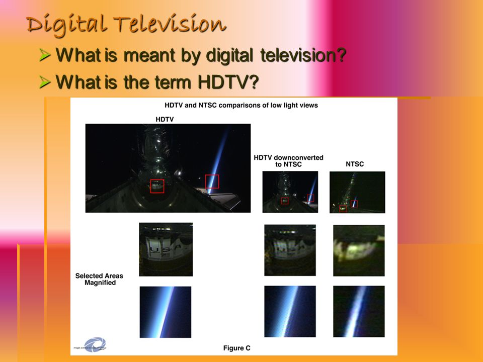 Digital Television What is meant by digital television? What is meant by digital television? What is the term HDTV? What is the term HDTV?