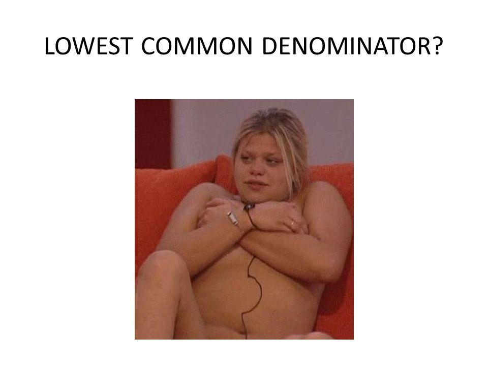LOWEST COMMON DENOMINATOR?