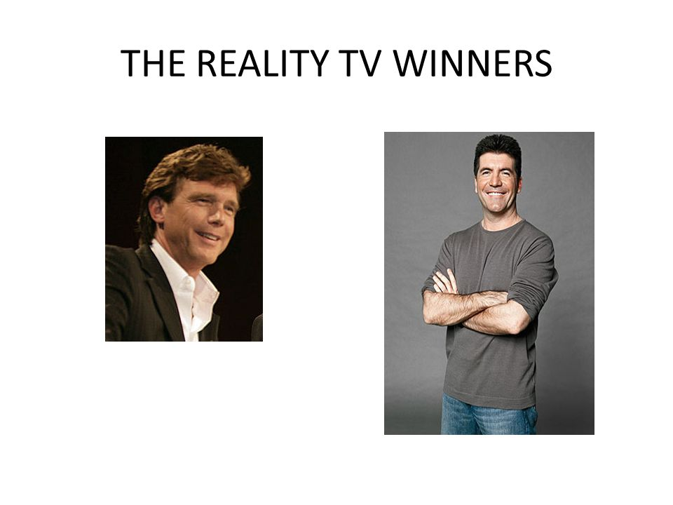 THE REALITY TV WINNERS