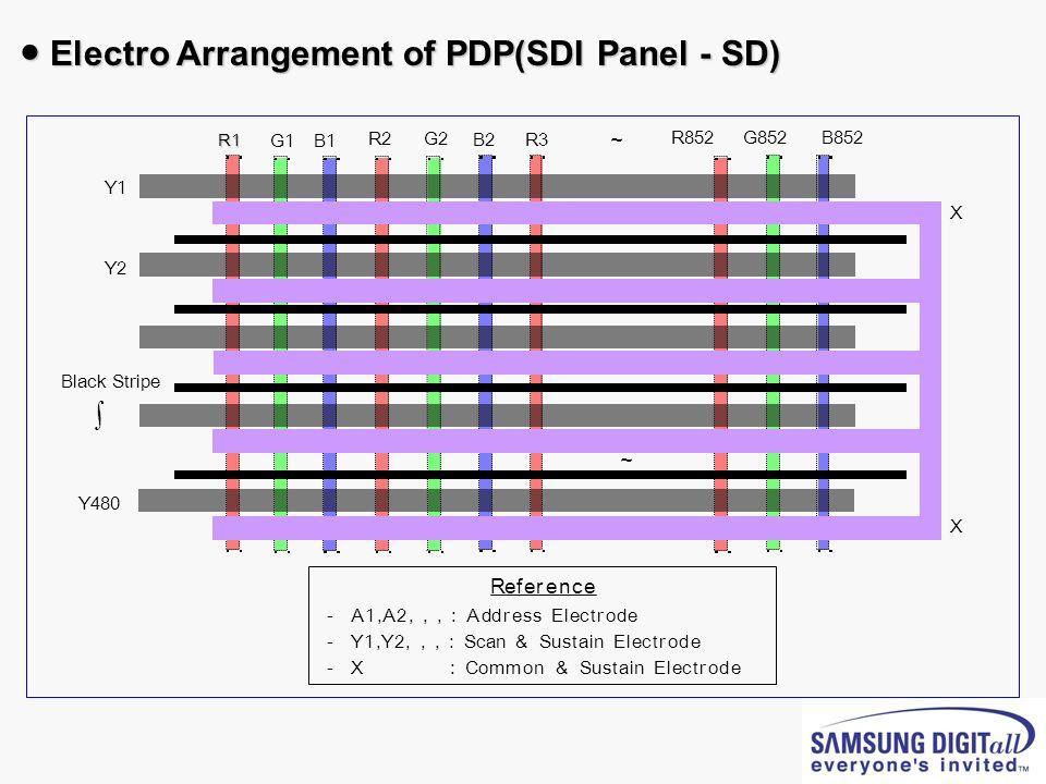 Electro Arrangement of PDP(SDI Panel - SD) Electro Arrangement of PDP(SDI Panel - SD)