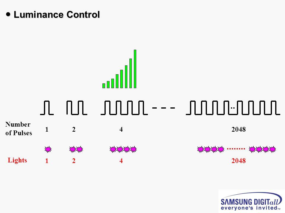 Number of Pulses Lights 1242048 124 Luminance Control Luminance Control