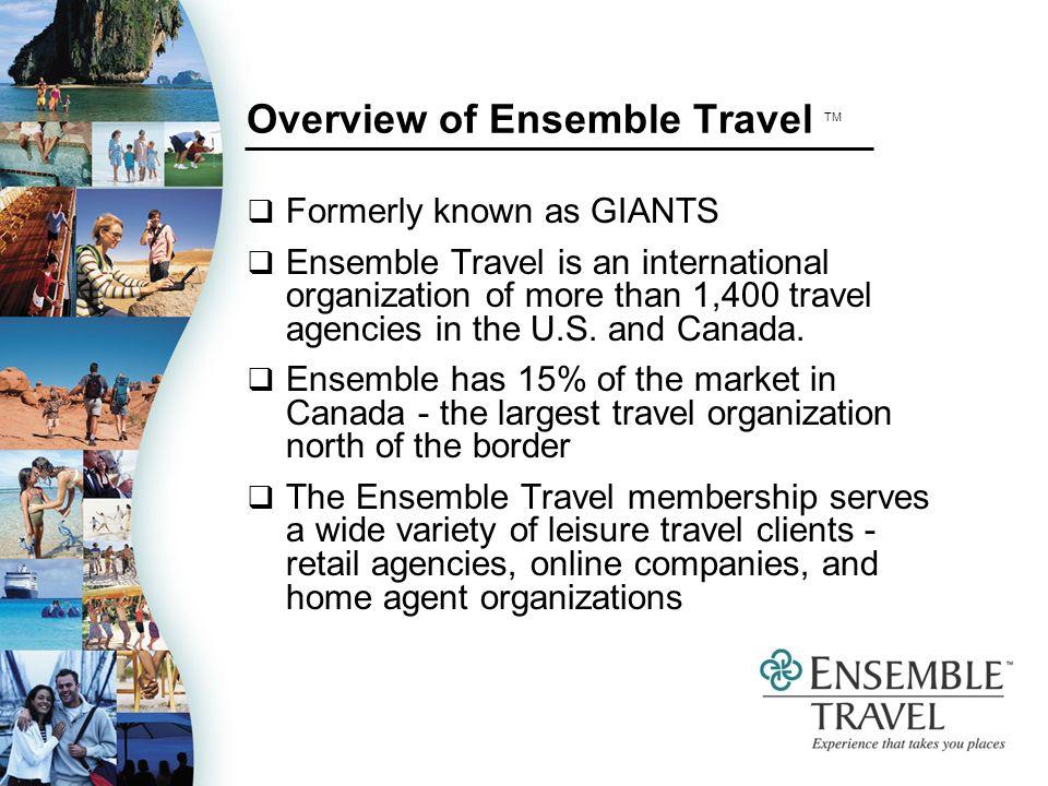 Overview of Ensemble Travel TM International scope = U.S.