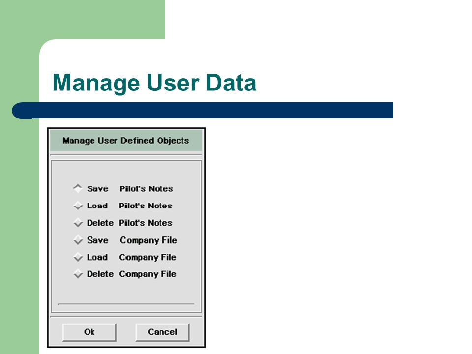Manage User Data
