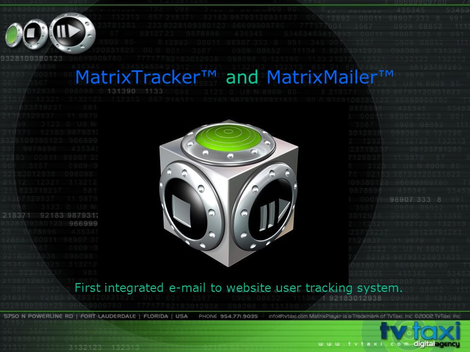 MatrixTracker and MatrixMailer First integrated  to website user tracking system.