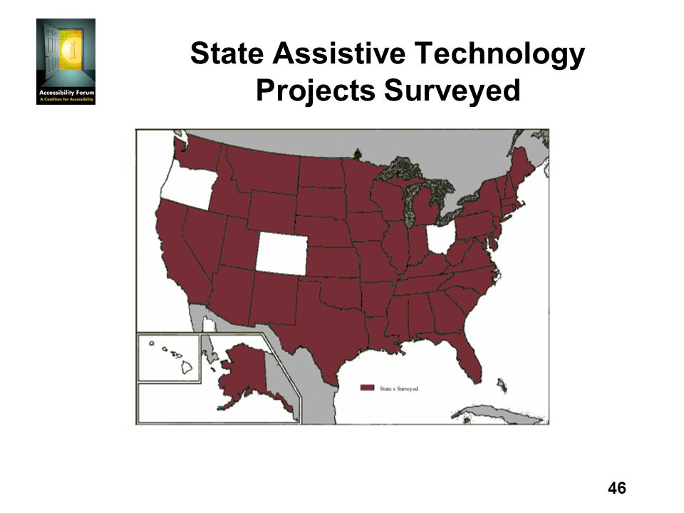46 State Assistive Technology Projects Surveyed