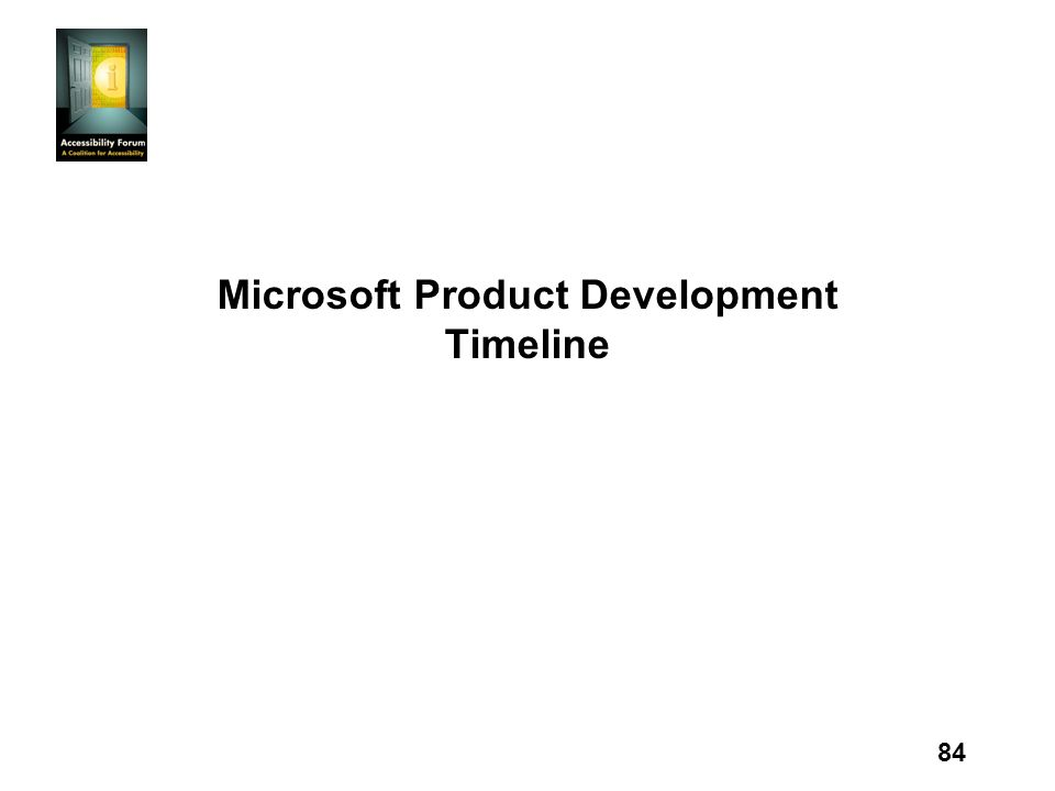 84 Microsoft Product Development Timeline