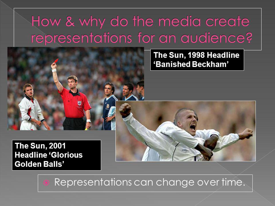 Representations can change over time.